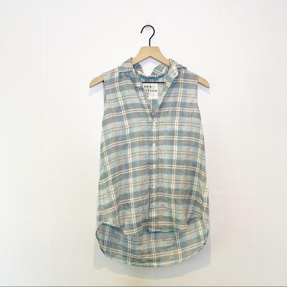 Frank & Eileen Fiona Sleeveless Linen Button Shirt